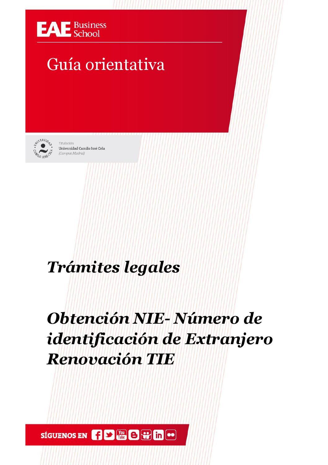 Obtenci n nie n mero de identificaci n de extranjero by eae business school issuu - Oficina de empadronamiento madrid ...