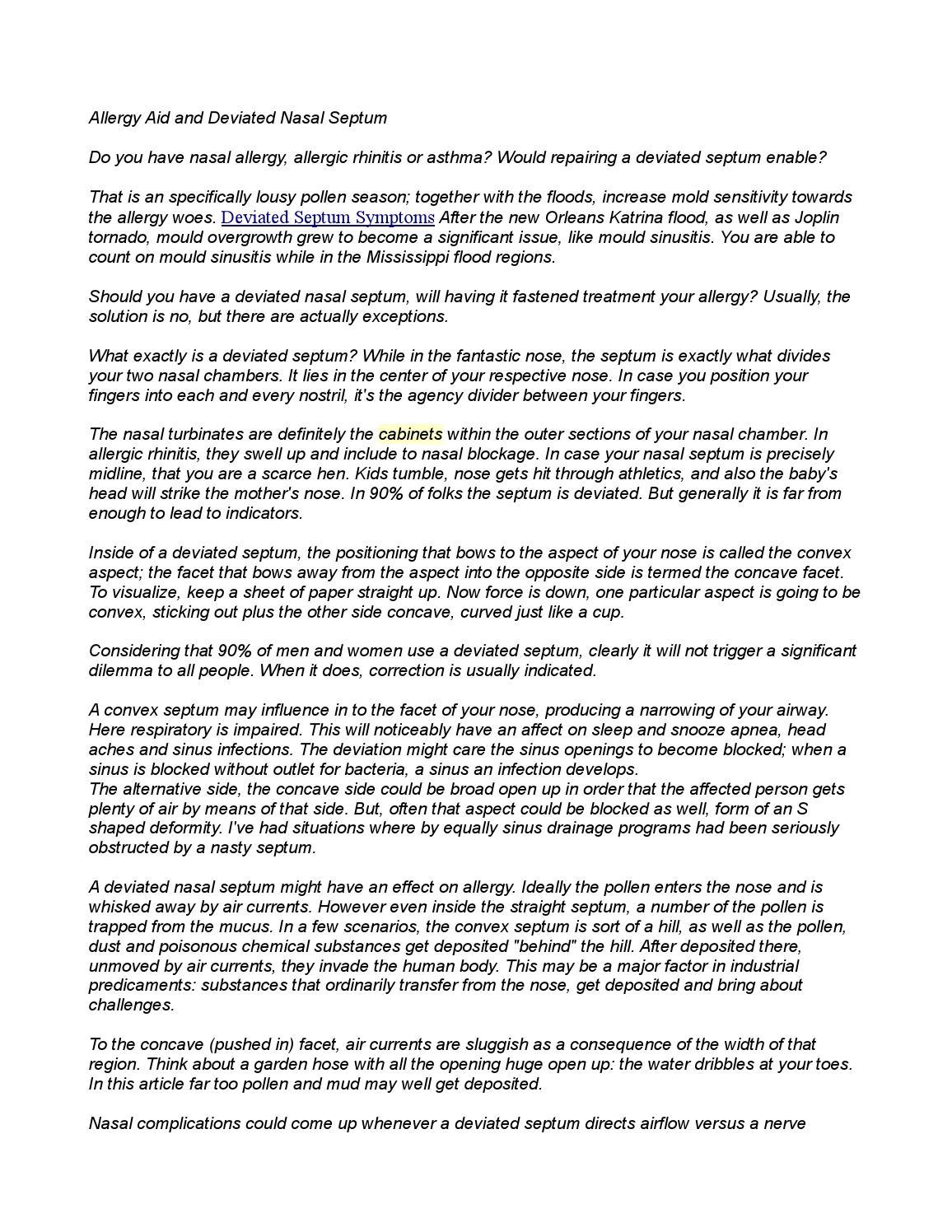 Deviated Septum Symptoms 2 By Holly5124 Issuu