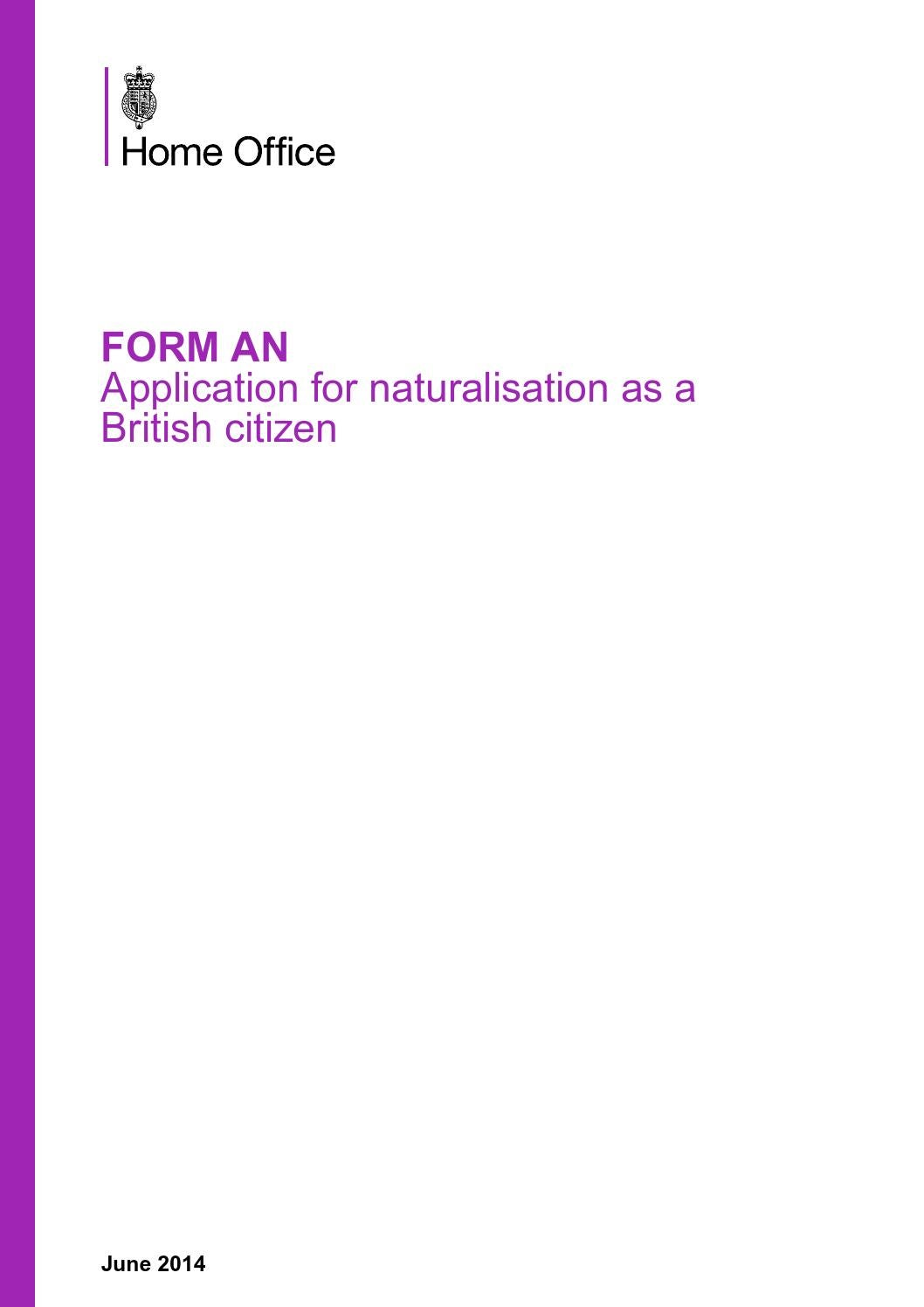 Naturalisation as a British citizen - a guide for applicants: guide ...