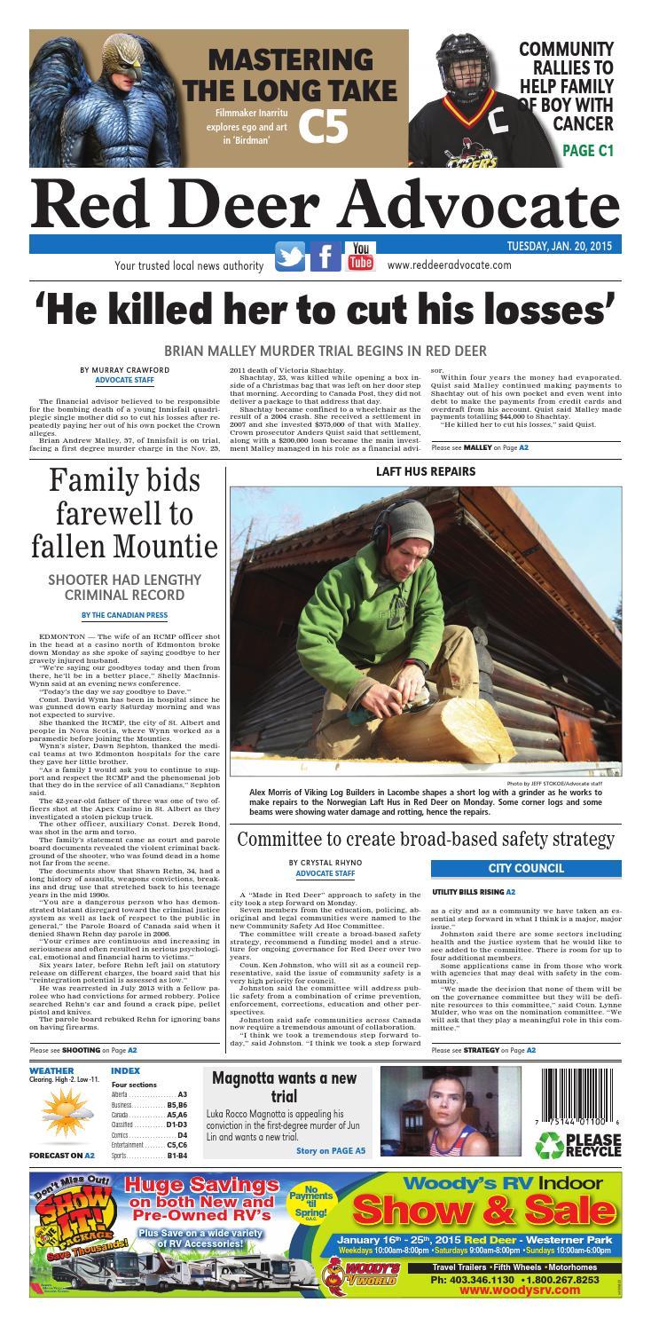 Red Deer Advocate, January 20, 2015 by Black Press Media
