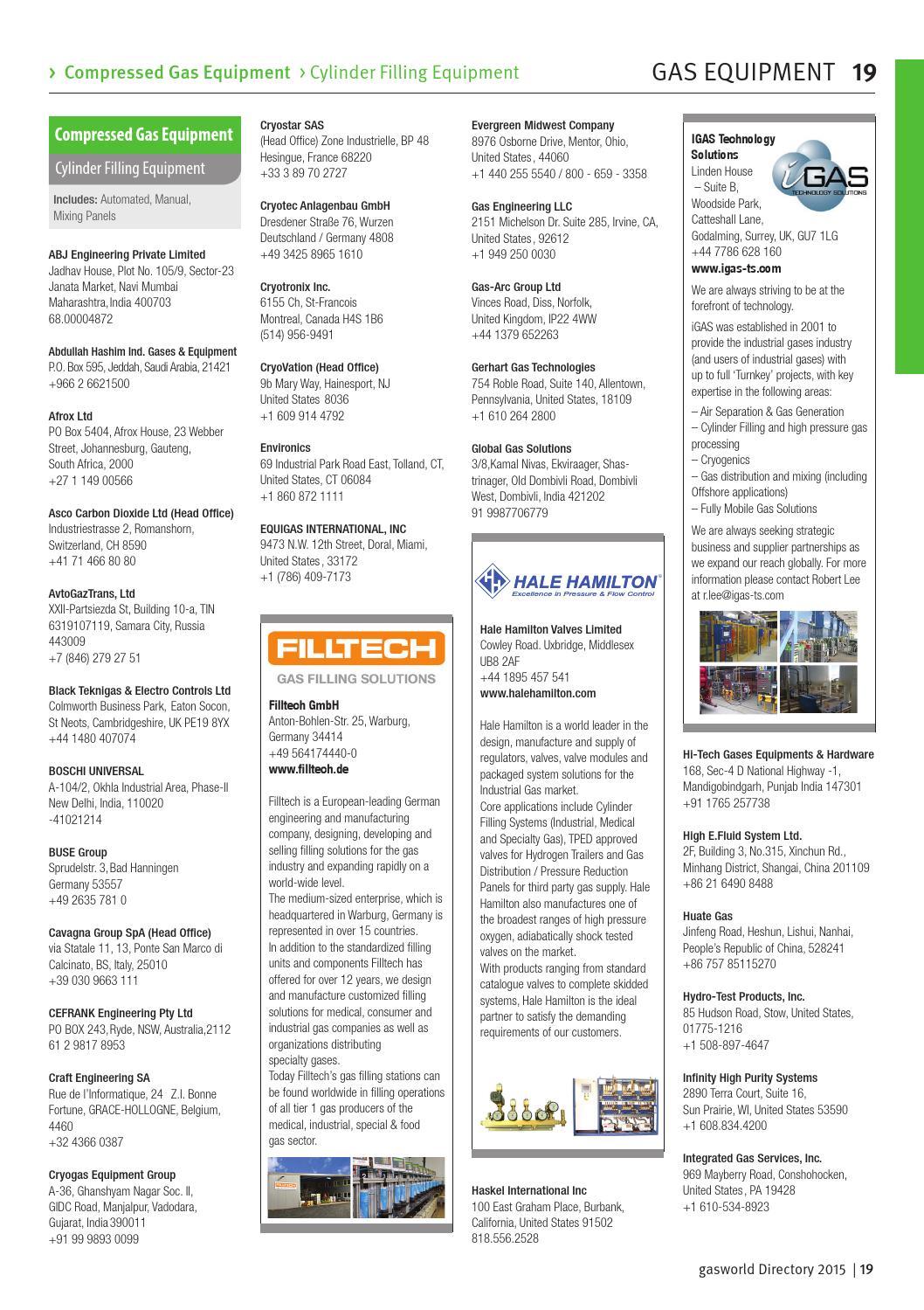 gasworld Global Industrial Gas Directory 2015 by gasworld