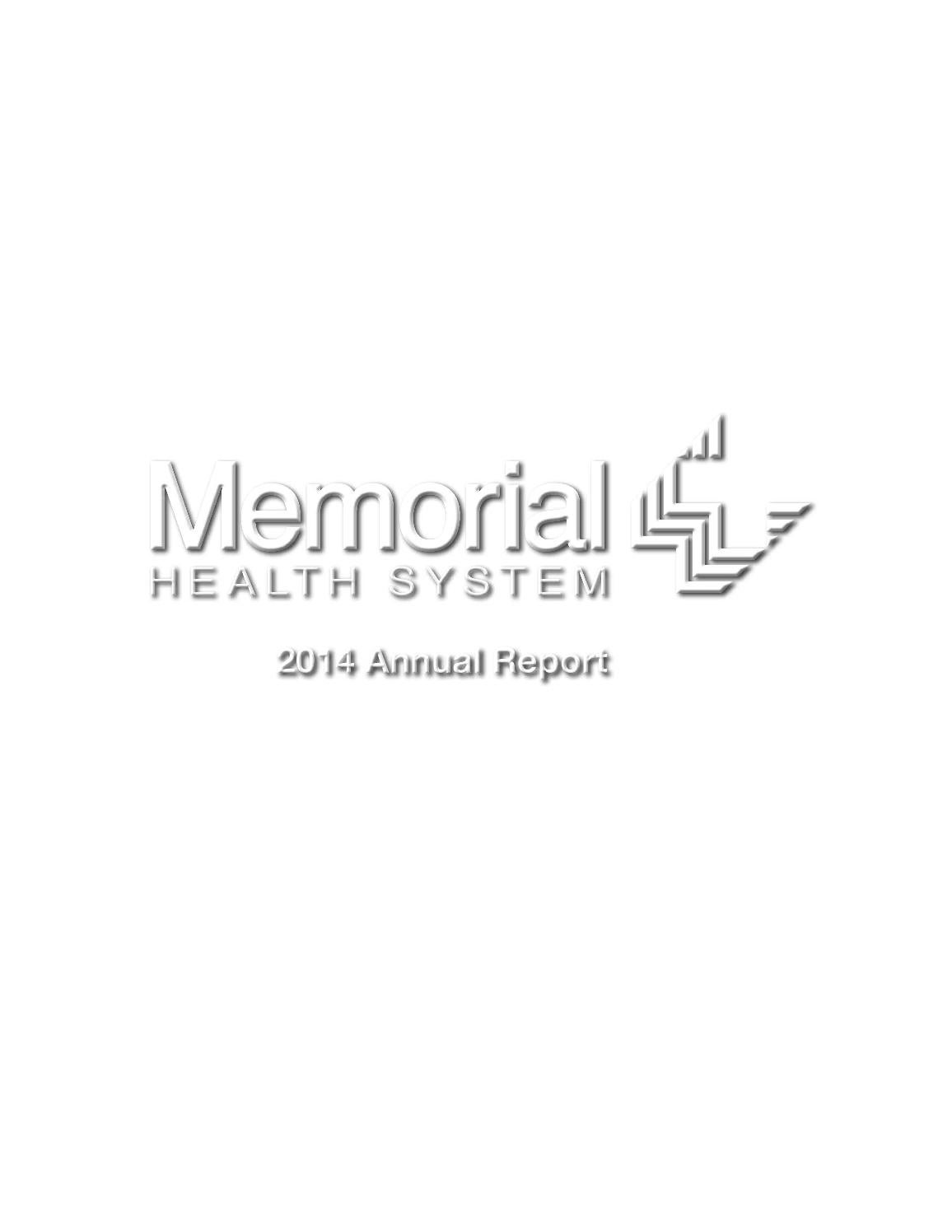 Memorial Health System 2014 Annual Report By Memorial Health