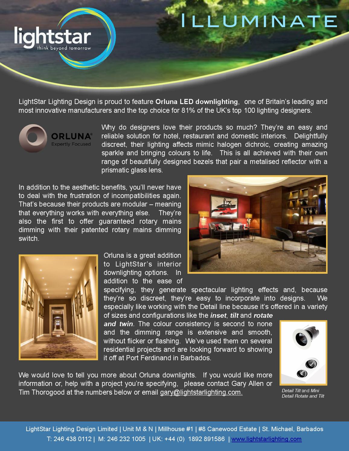 Orluna Downlighting by LightStar Lighting Design - issuu