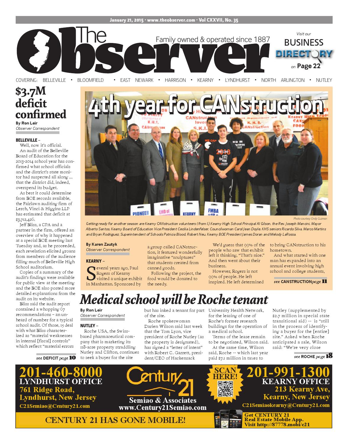 Jan. 21, 2015 Edition of The Observer by Kevin Canessa Jr. - issuu