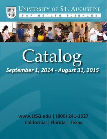 University of st augustine catalog 2014 2015 by university of st page 1 fandeluxe Images