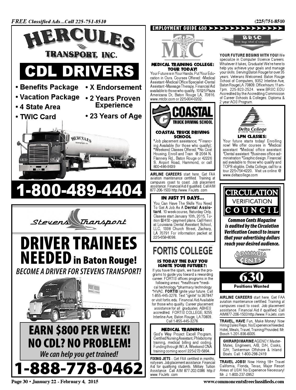 Baton Rouge Louisiana Truck Driving Jobs Manual Guide