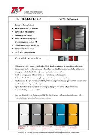 3 porte coupe feu by tatnegoce issuu. Black Bedroom Furniture Sets. Home Design Ideas