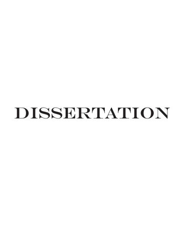 Dissertation proposal for black representation fashion and the media
