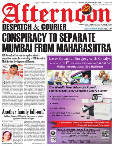 21 jan 2015 by Afternoon Despatch & Courier - issuu