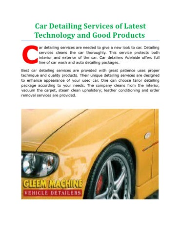 Car Detailing Services Of Latest Technology And Good Products By