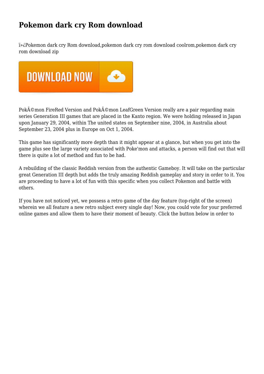 Pokemon dark cry legend of giratina gba zip download