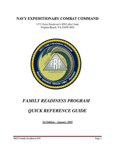 necc qrg jan2015 by navy expeditionary combat command issuu rh issuu com