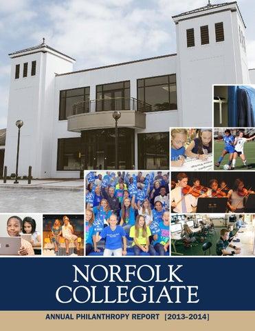 Norfolk Collegiate Annual Philanthropy Report 2013-2014 by