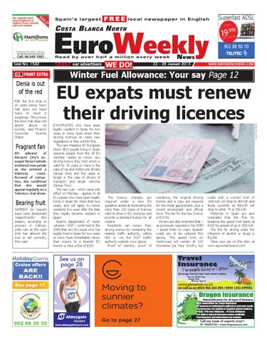 Euro weekly news costa blanca north 22 28 january 2015 issue page 1 fandeluxe Image collections