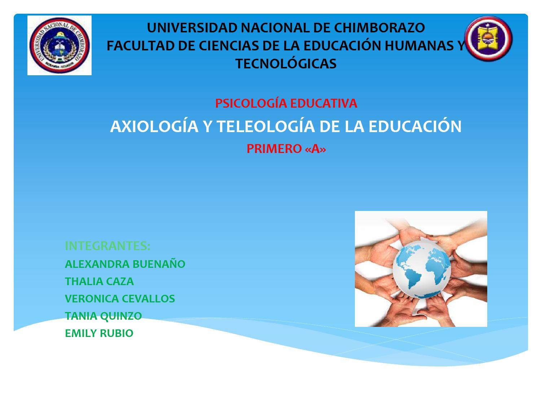AXIOLOGIA Y EDUCACION PDF DOWNLOAD