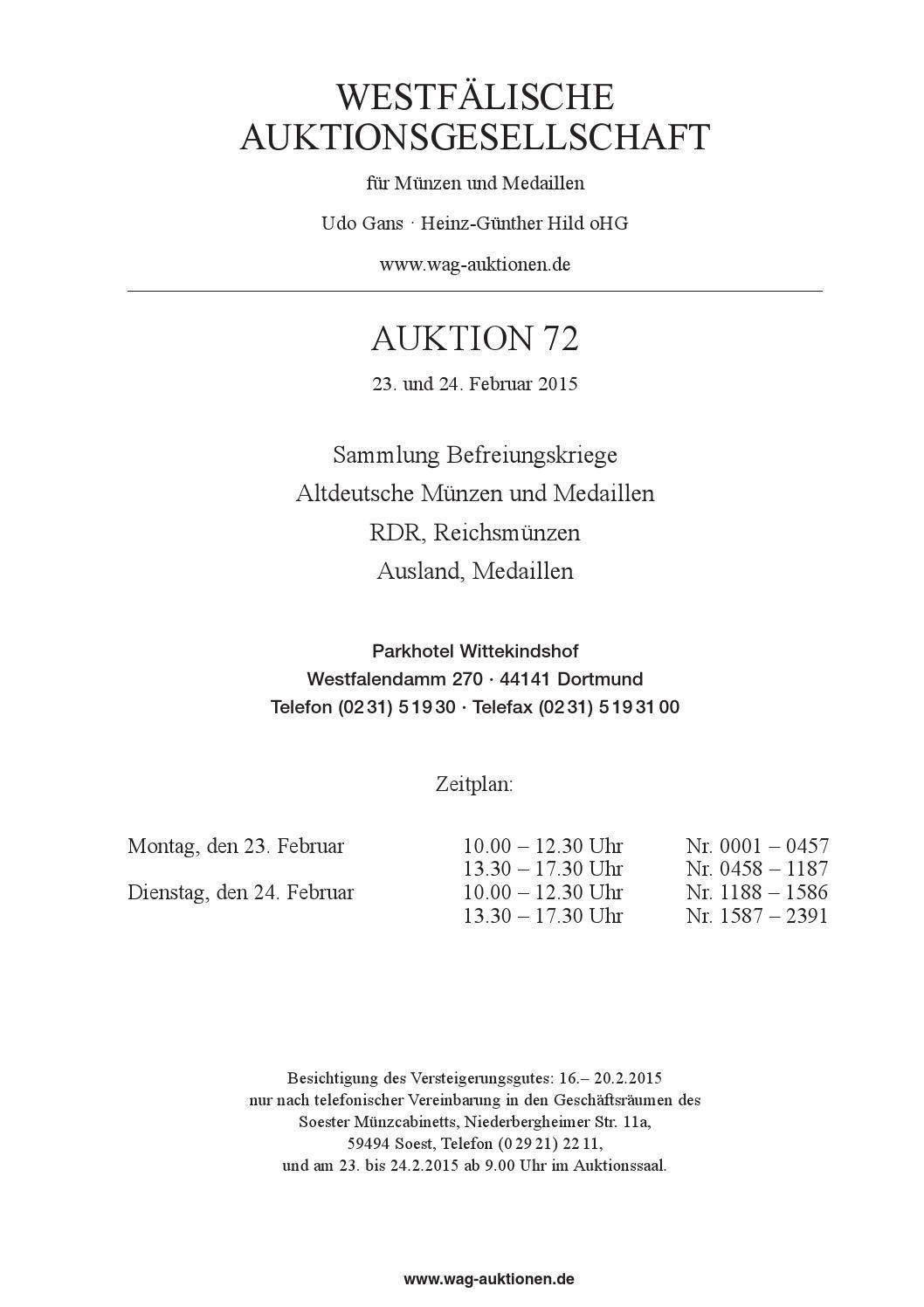 755f13cf20677e WAG Auktion 72 by WAG - issuu