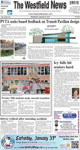 Wednesday January 21 2015 By The Westfield News