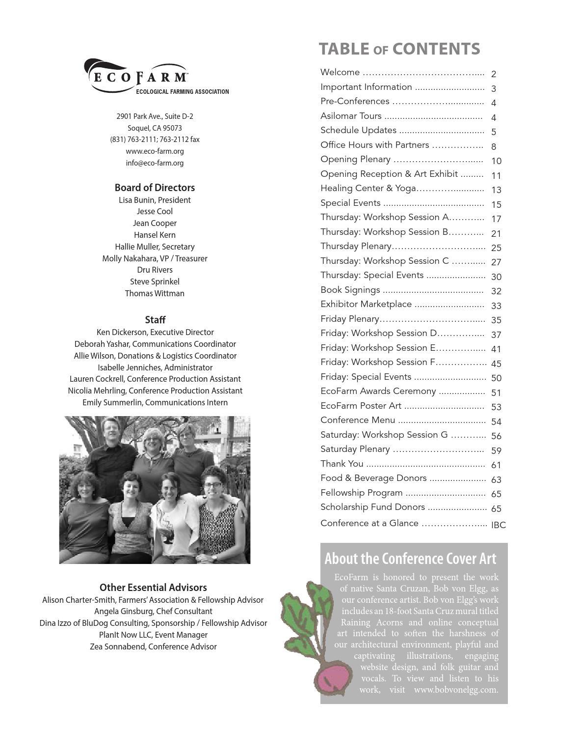 2015 Conference Agenda by EcoFarm - issuu