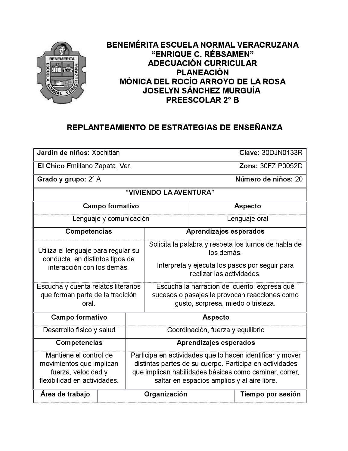 041ea35c85 Planeación replanteada con estrategias de enseñanza desarrollo del  pensamiento y lenguaje en la infa by Joselyn137 - issuu