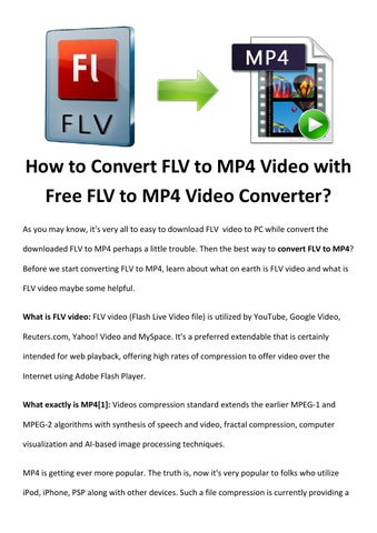 Convert flv to mp4 by Rick Drolet - issuu