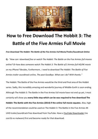 the hobbit the battle of the five armies download full movie