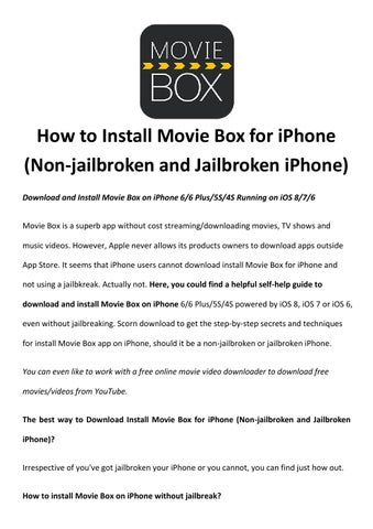 Install movie box for iphone by Rick Drolet - issuu