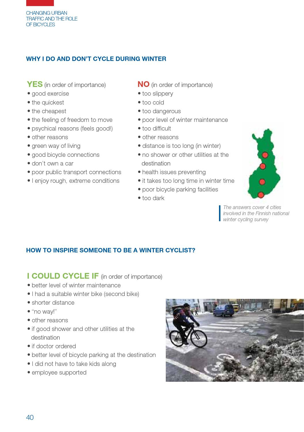 Changing Urban Traffic and the Role of Bicycles by Markus ...