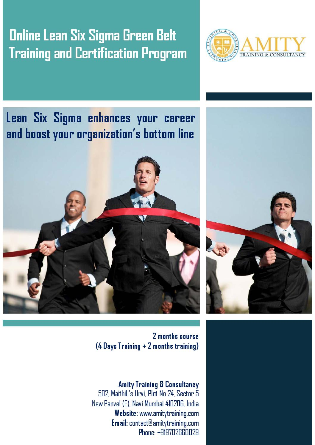 Lean Six Sigma Green Belt Training And Certification Program