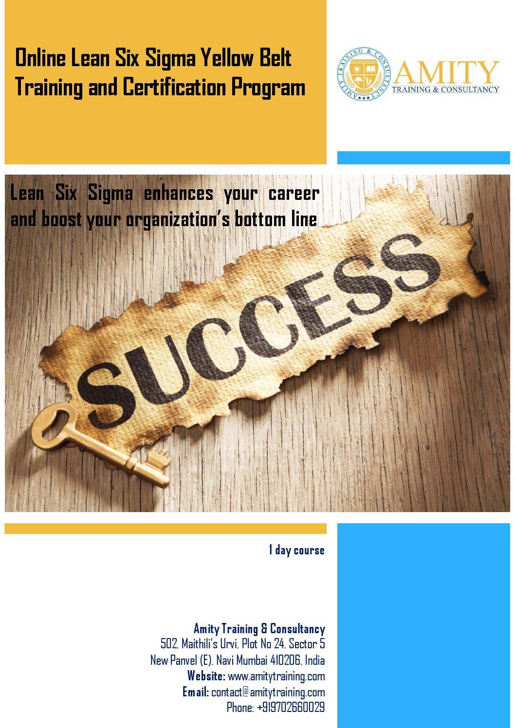 Lean Six Sigma Yellow Belt Training And Certification Program