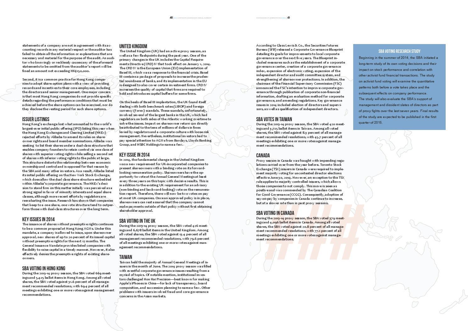 2014 SBA Annual Governance Summary by Michael McCauley - issuu