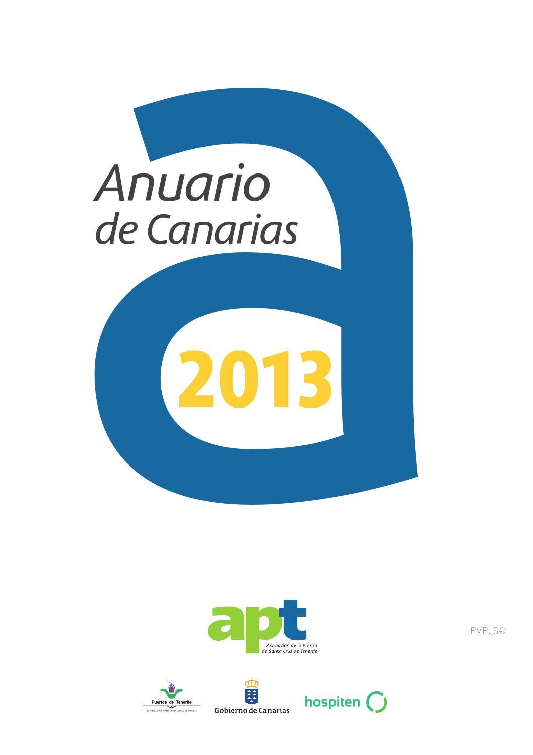 Anuario de Canarias 2013 by Asociación de la Prensa de Santa Cruz de ...