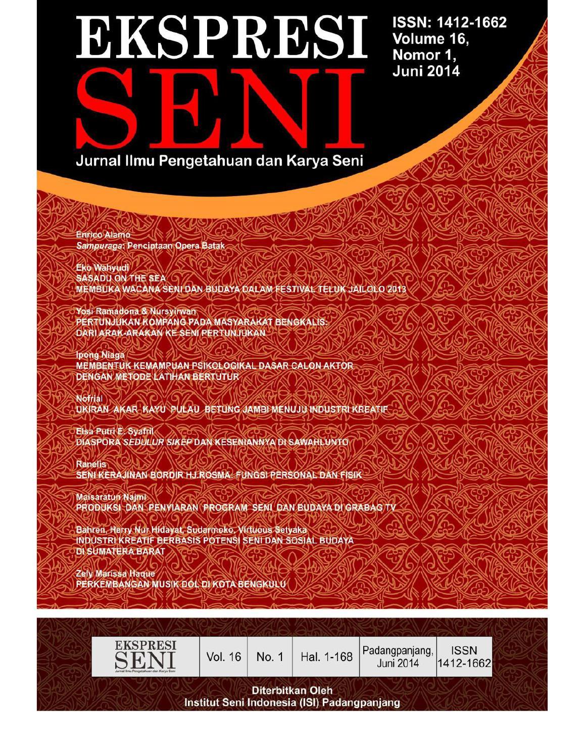 Ekspresi seni vol 16 no 1 juni 2014