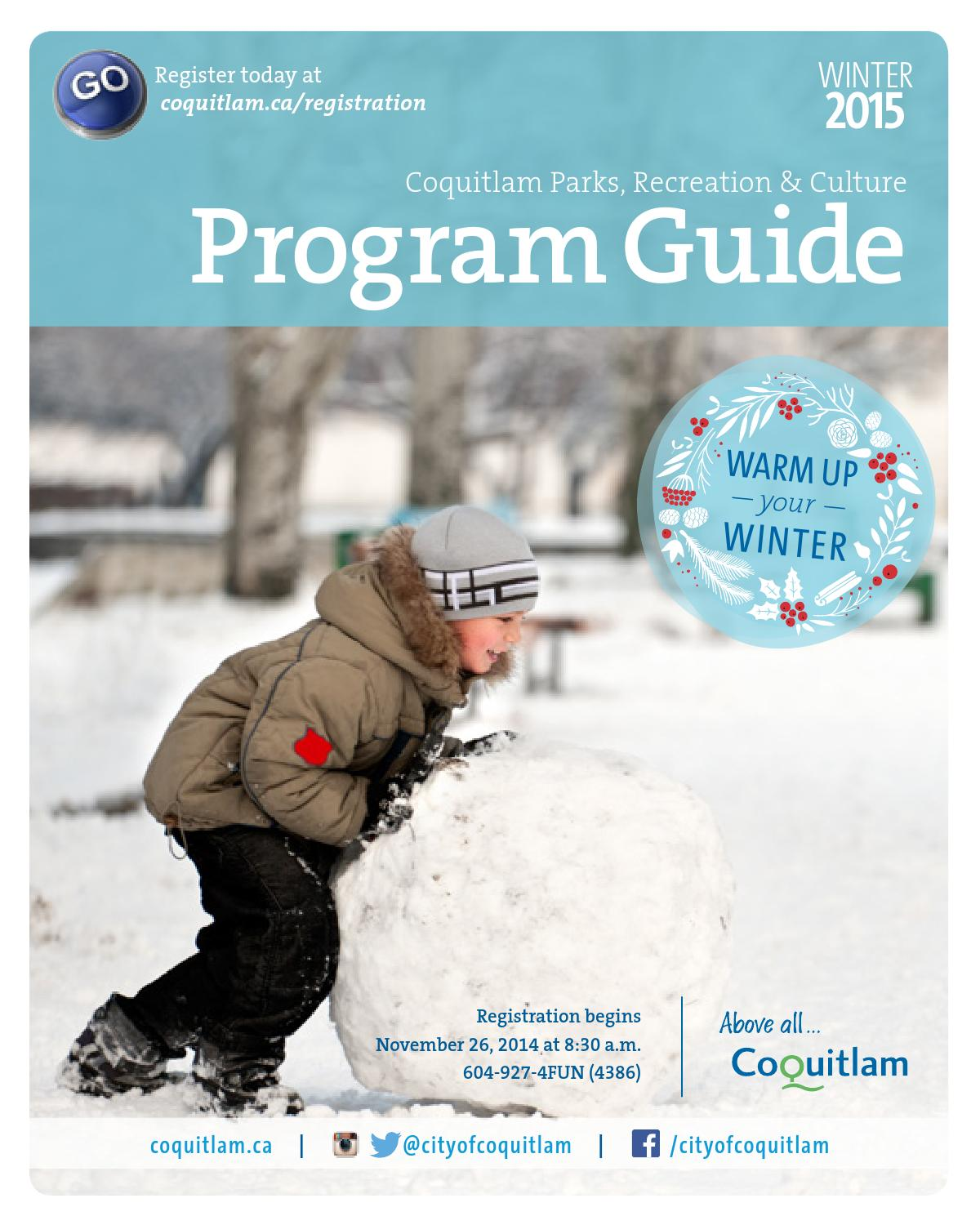 2015 Winter Program Guide By City Of Coquitlam Issuu