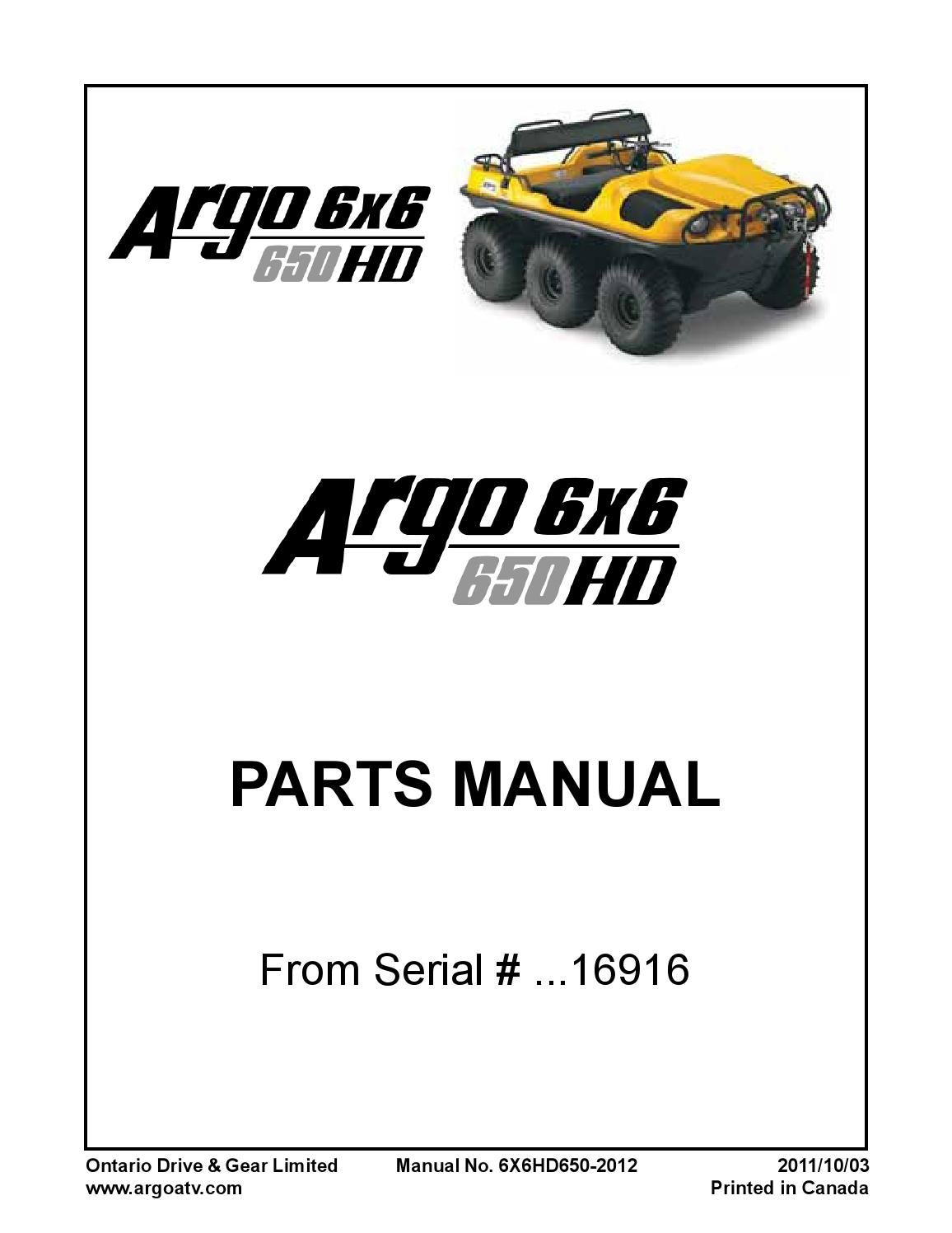 6x6 hd 650 parts manual 6x6hd650 2011 2011 09 15 from serial no 16916 by  Spartak55 - issuu
