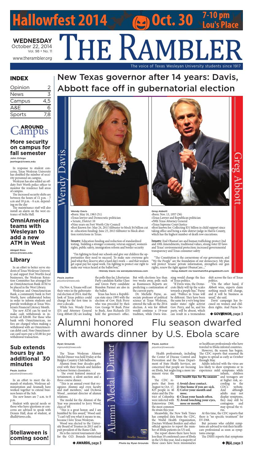 October 22, 2014 Vol  98, No  11 by The Rambler - issuu