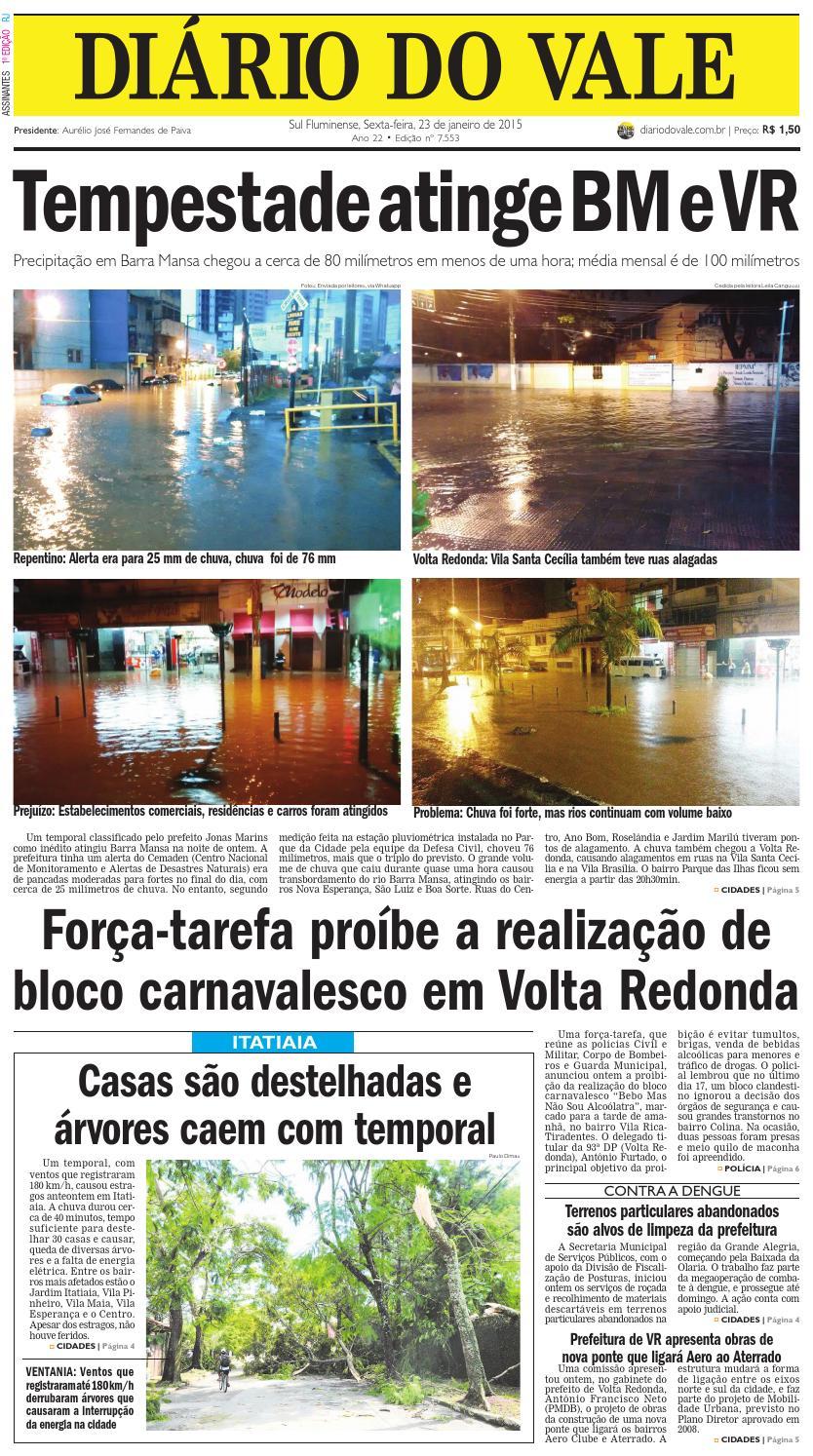 7553 diario sexta feira 23 01 2015 by Diário do Vale - issuu dc3c734b89f