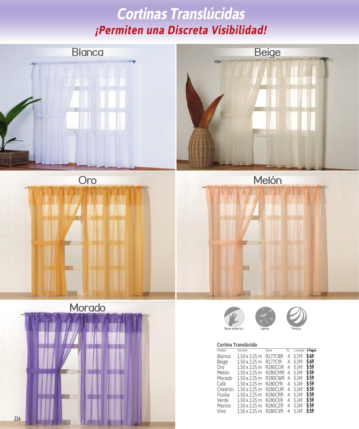 Concord catalogo de cortinas 2015 by www for Cortinas translucidas