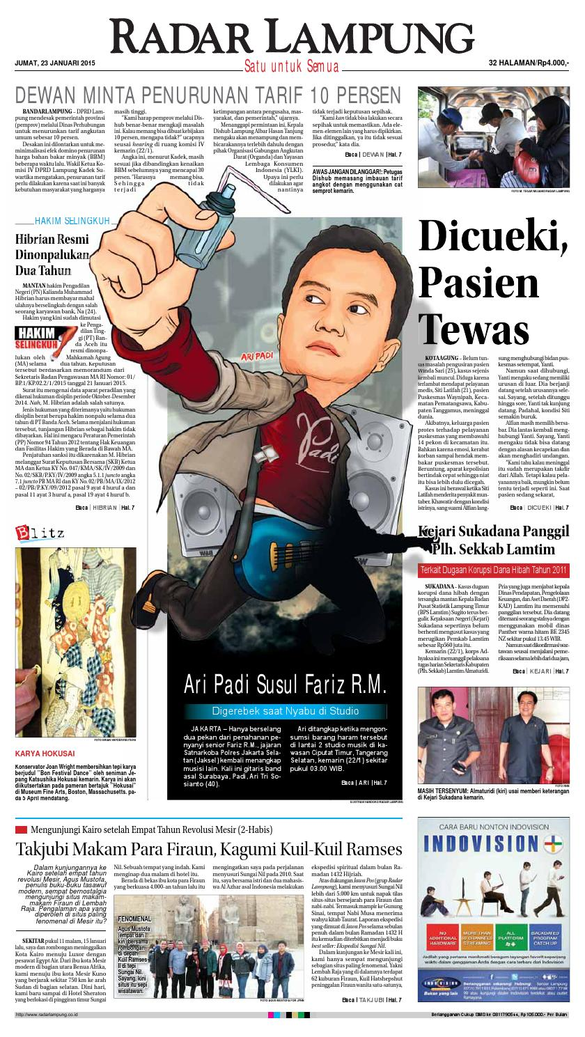 Radar Lampung Jumat 23 Januari 2015 By Ayep Kancee Issuu Tcash Vaganza 39 Bantal Mobil 3 In 1 Juventus Aksesoris