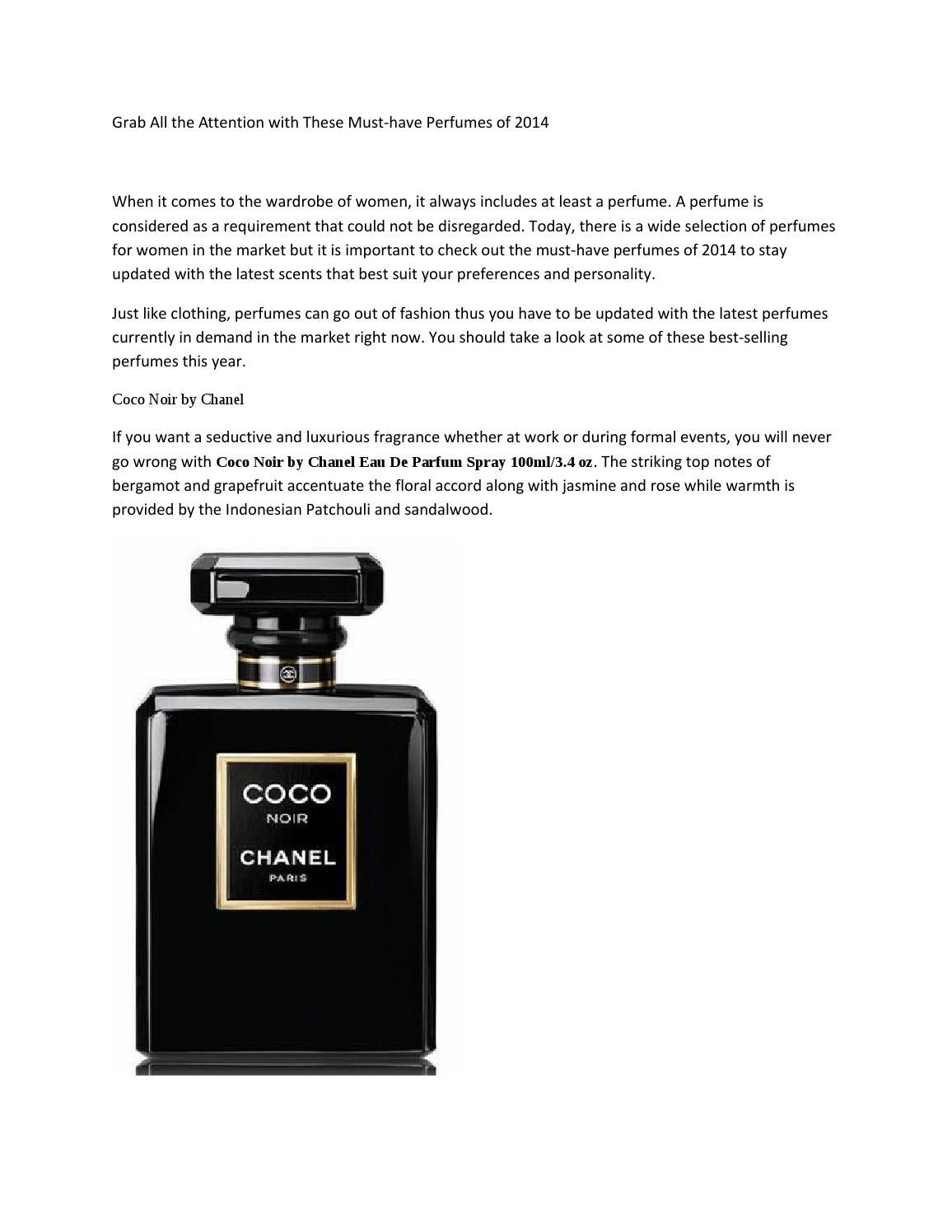 Must have perfumes for women