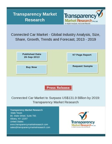 Connected Car Market Analysis 2013 - 2019 by wayne collins