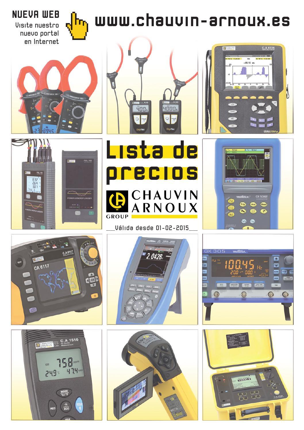 Lista De Precios 2015 By Chauvin Arnoux Iberica Issuu