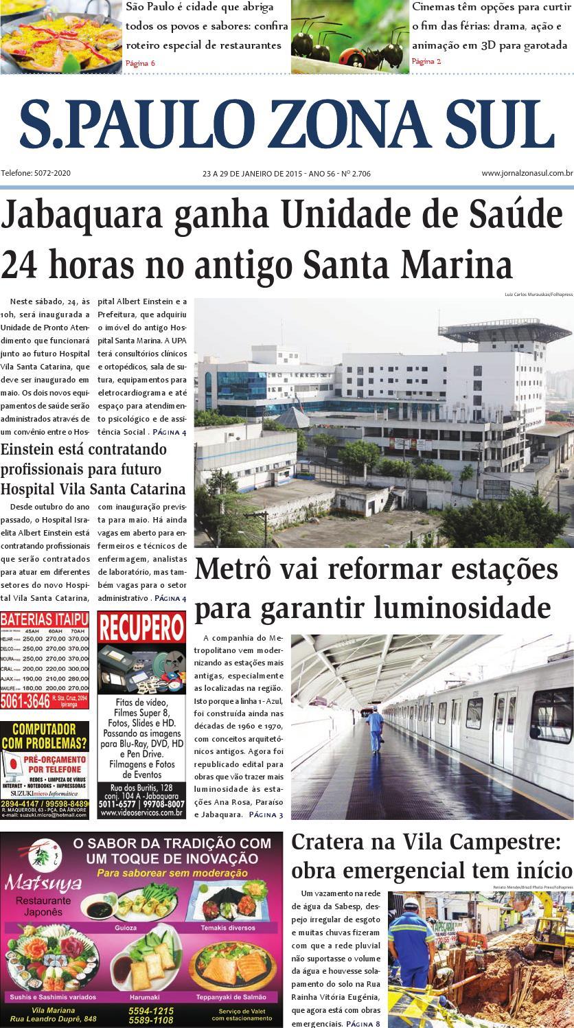 b261ab4830c30 23 a 29 de janeiro de 2015 - Jornal São Paulo Zona Sul by Jornal Zona Sul -  issuu