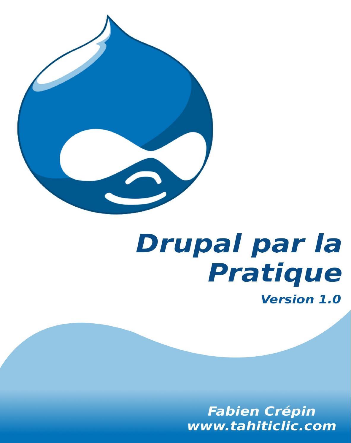 DRUPAL 6.3 GRATUITEMENT TÉLÉCHARGER