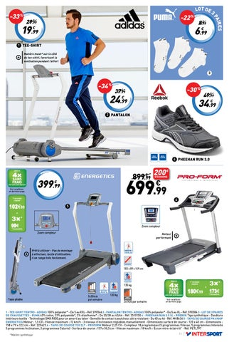 Le fitness vous aller adorer intersport by intersport - Tapis de course energetics power run 4 0 ...
