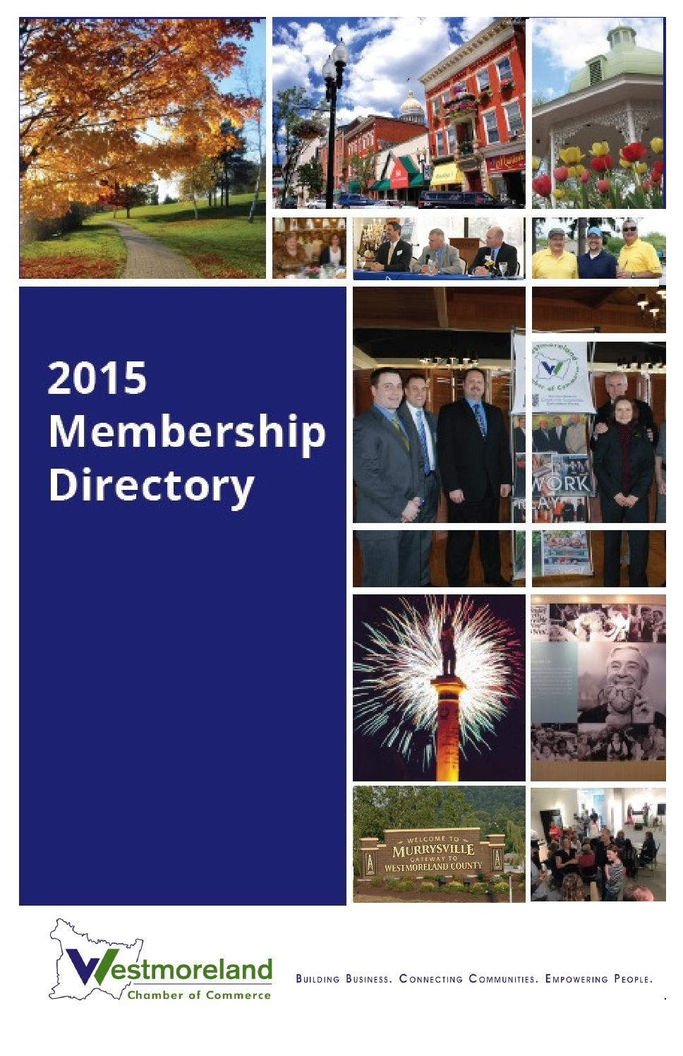 Membership Directory 2015 By Westmoreland County Chamber Of Commerce