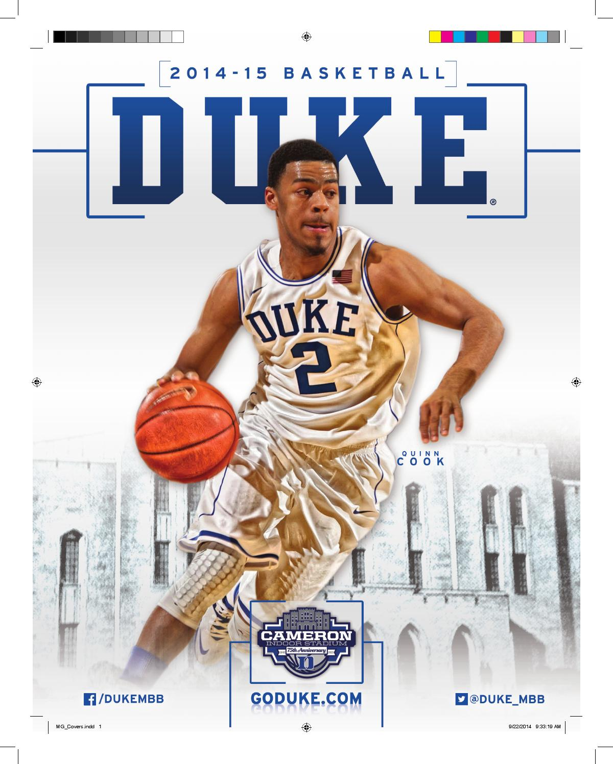 491997f013b7 2014-15 Duke Men s Basketball Media Guide by Duke Athletics - issuu