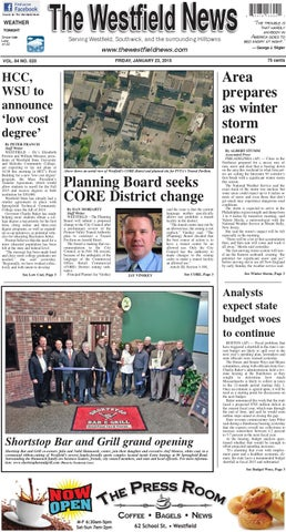 Friday January 23 2015 By The Westfield News Issuu