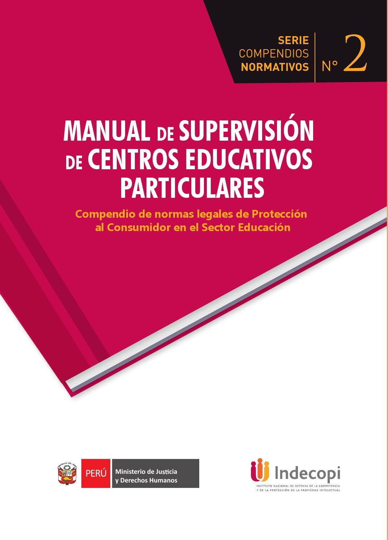 Manual de supervisión de Centros Educativos Particulares by Indecopi  Oficial - issuu