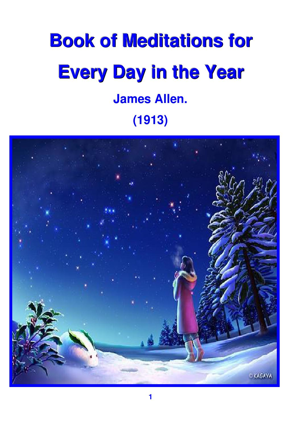 Book of Meditations for Every Day in the Year - James ...