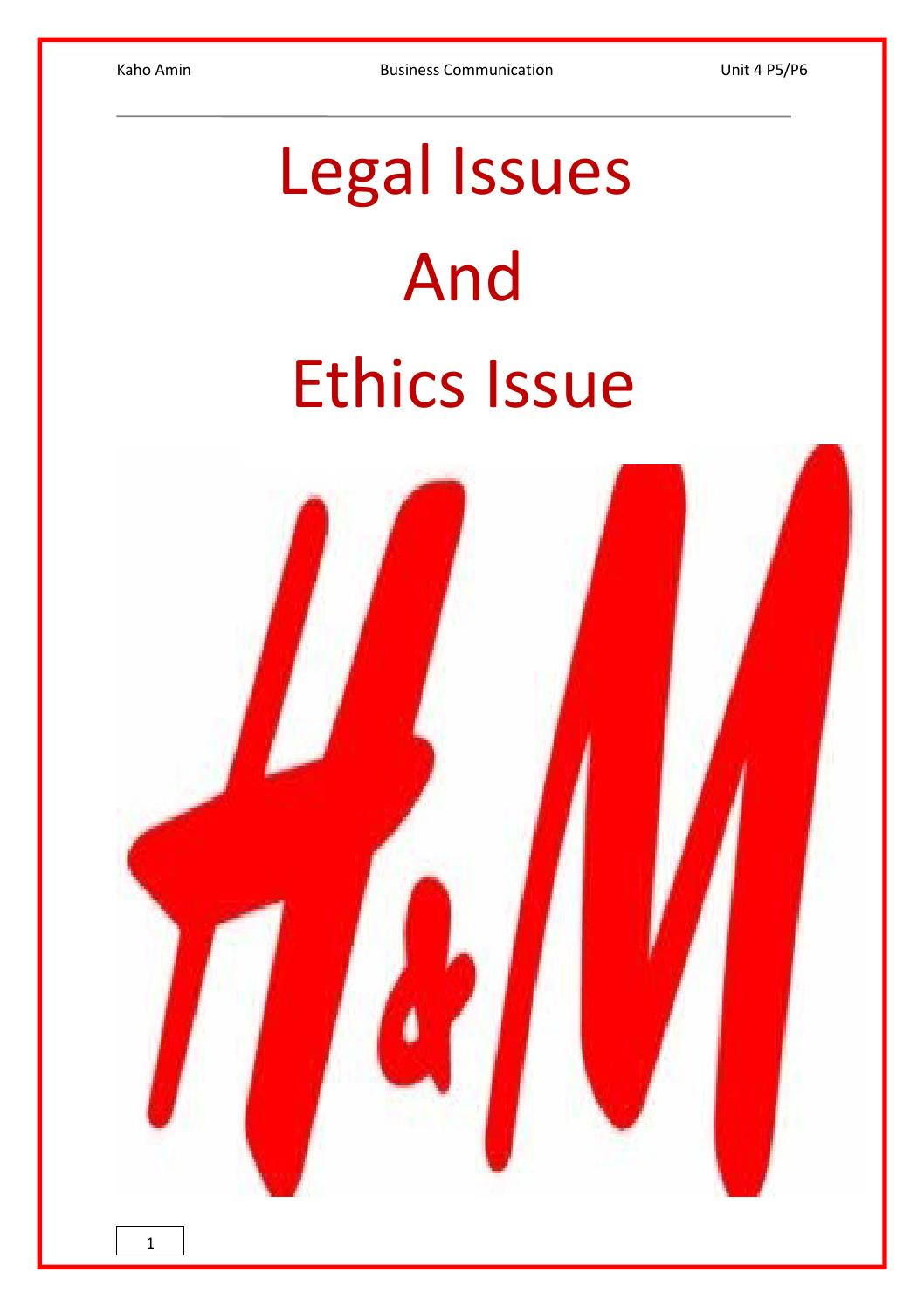 legal issues in business communication